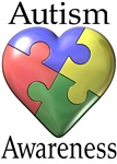 asperger's autism awareness puzzle heart t-shirt
