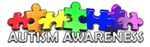 autism awareness painbow puzzle pieces bumper sticker t-shirt