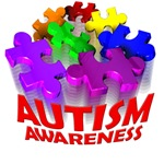 3d autism awareness puzzle pieces