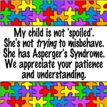 autism aspergers not spoiled puzzle button