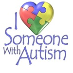 i love someone with autism puzzle heart t-shirt