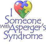 i love someone with asperger's autism awareness t-shirt